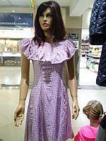 Летнее нежное розовое платье