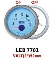 Дополнительный прибор Ket Gauge LED 7701 вольтметр. Дополнительный прибор купить.