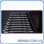 Набор рожковых ключей в ложементе (6-27мм), 9 предметов T40593 Ampro