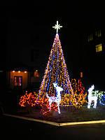 Новогоднее оформление дома, коттеджа, новогодняя ель, продажа гирлянд