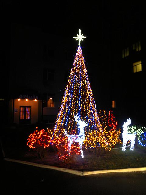 Новогоднее оформление дома, коттеджа, фото 1