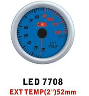 Температура выхлопных газов LED-7708 стрелочный без корпуса диаметр 52 мм.