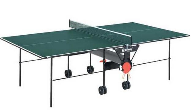 Стол для настольного тенниса  Sponeta S 1-04i Интер Атлетика. Тележка оснащена независимым складным механизмом с  автоматической защелкой.