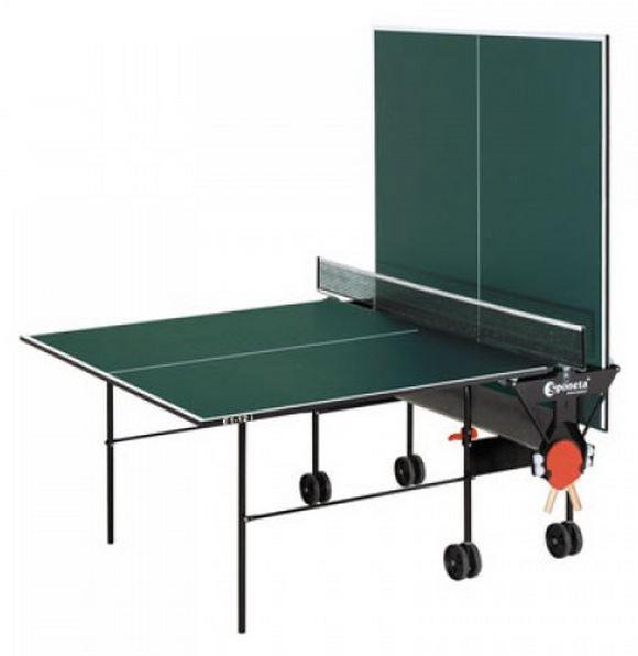Стол для настольного тенниса  Sponeta S 1-04i. В сложенном состоянии : длина ― 1525 мм, ширина ― 665 мм, высота ― 1870 мм.