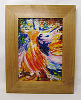 "Картина на стекле - ночник ""танец света"""