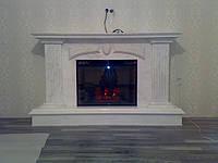 Классический камин из белого мрамора Виктори под ключ