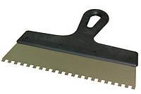Шпатель зубчатый Бригадир 250 мм зубья 6х6 мм (10-017)