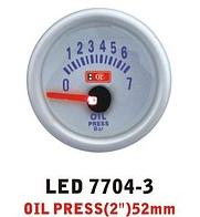 Дополнительный прибор Ket Gauge LED 7704-3 давление масла. Дополнительный прибор купить., фото 1
