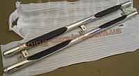 Пороги боковые труба спроступью (короткая база) D70 на Hyundai H1 2008