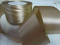 Опт. Материалы для рукоделия. Лента цвета каппучино, 5 см, 23 м