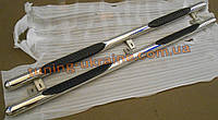 Пороги боковые труба с проступью (длинная база) D70 на Hyundai H1 2008
