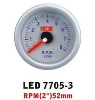 Дополнительный прибор Ket Gauge LED 7705-3 тахометр. Дополнительный прибор купить.