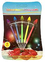 Свеча на торт с разноцветным пламенем