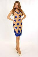 Коктейльное платье-карандаш c V-образным декольте
