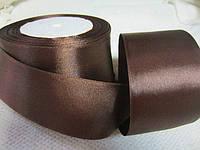 Опт. Канзаши из атласных лент. Лента цвета шоколад, 5 см, 23 м