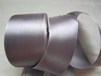 Опт. Для поделки из атласных лент. Лента серая (серебристая), 5 см, 23 м