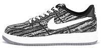 Мужские кроссовки Nike Lunar Force 1 Black White (Найк Форс низкие) черные