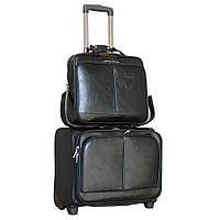 Стильный чемодан с сумкой на колёсах двойка. SW510341