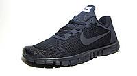Кроссовки мужские  Nike Free Run 3.0 сетка, синие(найк фри ран)р.40