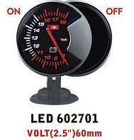 Дополнительный прибор Ket Gauge LED 602701 вольтметр. Дополнительный прибор. Тюнинг.