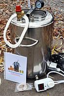 """Автоклав """" ЛЮКС - 21 """" электрический  из нержавеющей стали для домашнего консервирования ."""