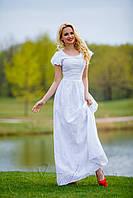 Белое хлопковое платье в пол 42-48 размеры Jadone