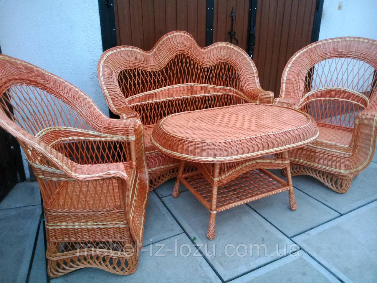 """Набор мебели """"Капля Елит"""" №1 - Мебель из лозы --- Интернет-магазин изделий из лозы в Закарпатской области"""