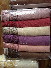Набор махровых полотенец 6 - ка, Purry 50*90 Sarmasik