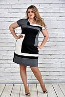 Женское платье абстракция 0302-1,  с 42 по 74  размер