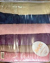Набор махровых полотенец 6 - ка, Sikel Cotton Organic 50*90