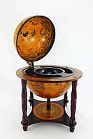 Глобус бар настольный 4 ножки 330 мм коричневый