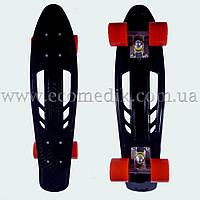 """Удобный скейтборд пенни борд черный с отверстиями в деке penny board 22"""", фото 1"""