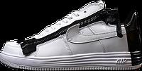 Мужские кроссовки Acronym x Nike Lunar Force 1 (Найк Акроним Лунар Форс) низкие белые