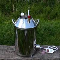 """Автоклав """" МЕГА - 14 """" электрический  из нержавеющей стали для домашнего консервирования ."""