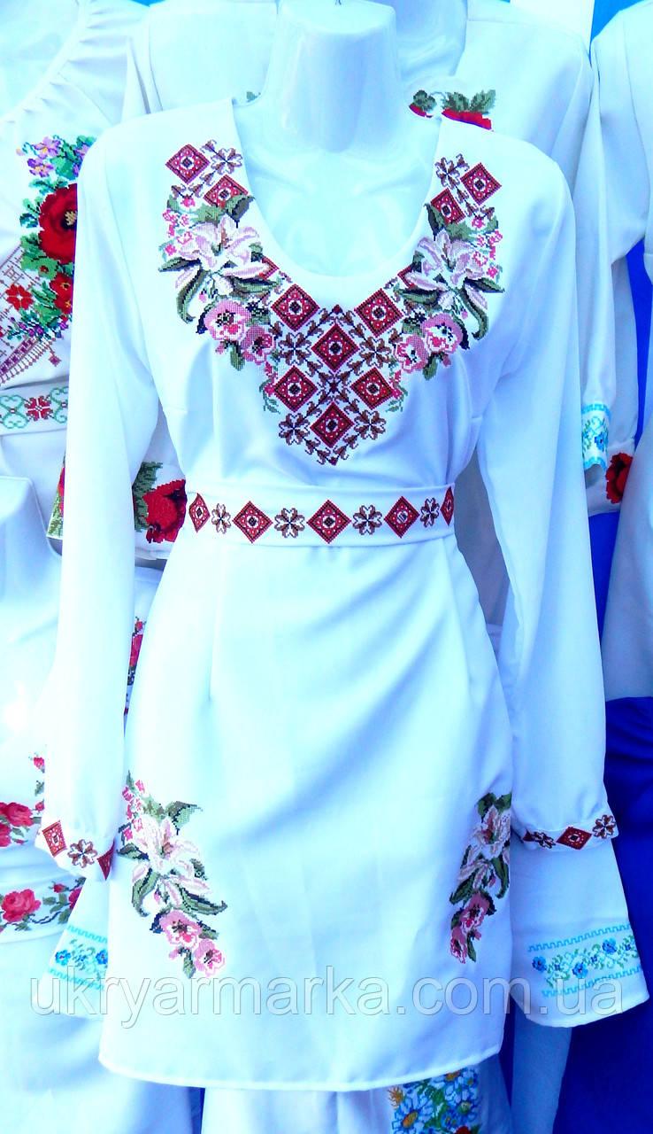 """Жіноча сукня """"Лілії"""" біле"""