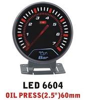 Дополнительный прибор Ket Gauge LED 6604 давление масла. Приборы для тюнинга.