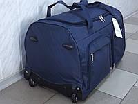 Сумка на колесах большая текстильная дорожная LYS 8429 синяя