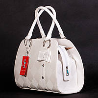 Белая дамская сумка женская с бантиком №1338wnr