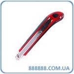 Нож с 3-мя отломными лезвиями 18мм металлическая направляющая противоскользящий корпус HT-0508 Intertool