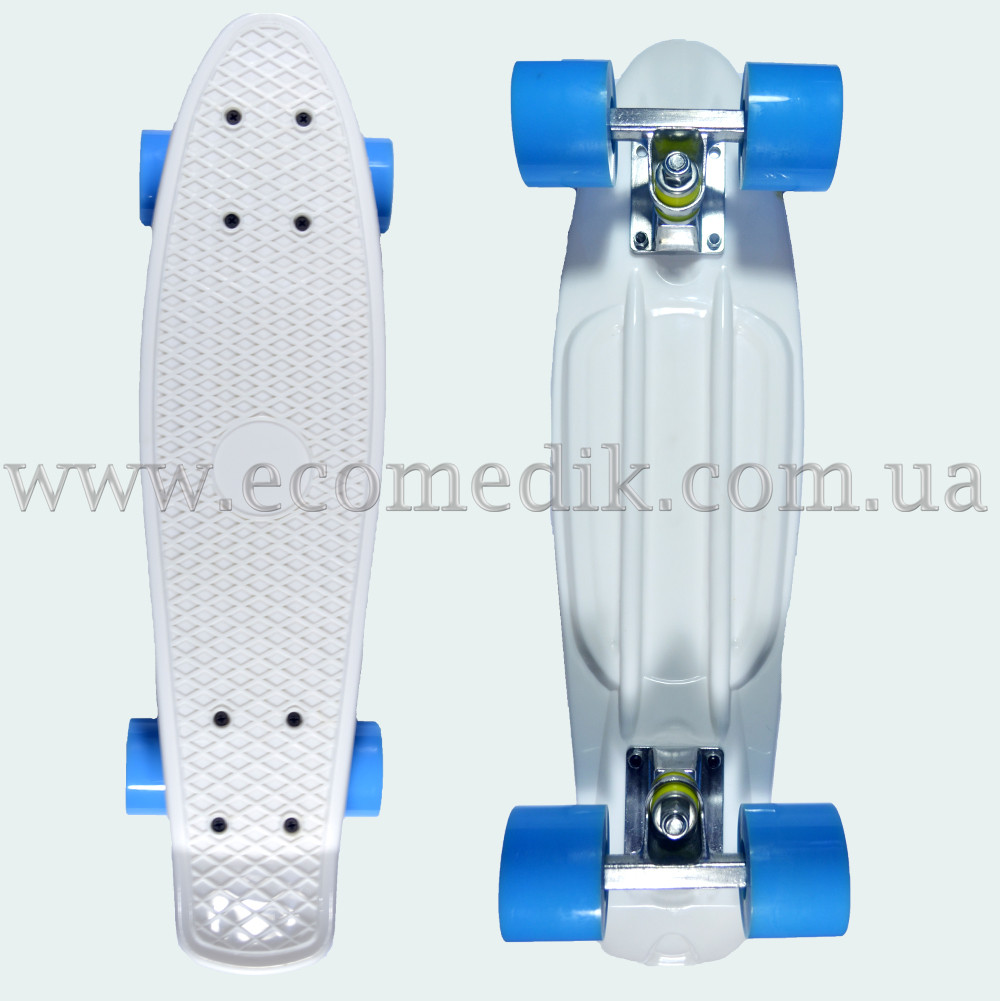 "Стильный скейтборд пенни борд белый penny board original 22"""