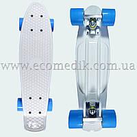 """Стильный скейтборд пенни борд белый penny board original 22"""", фото 1"""