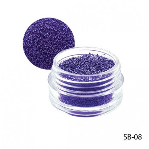 Темно-фиолетовые бульонки в круглой таре