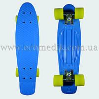"Стильный скейтборд пенни борд синий penny board original 22"", фото 1"