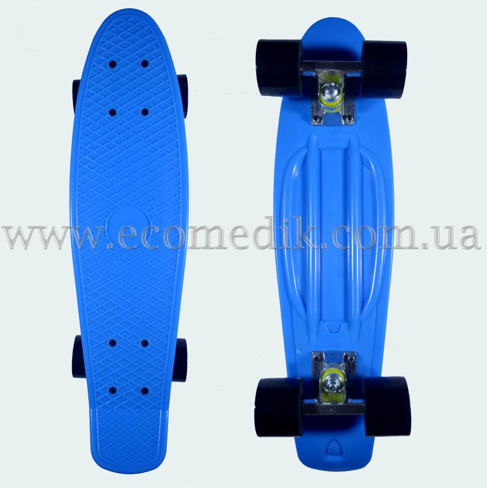 "Стильный скейтборд пенни борд синий penny board original 22"""