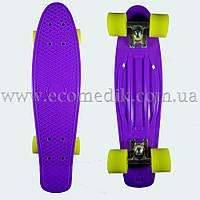 """Стильный скейтборд пенни борд фиолетовый penny board original 22"""", фото 1"""