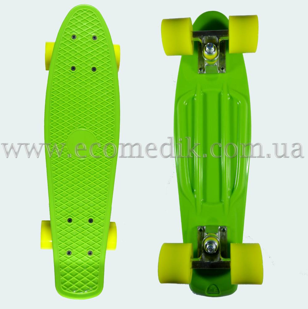 """Стильный скейтборд пенни борд салатовый penny board original 22"""""""