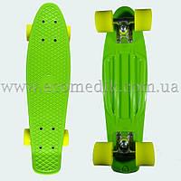 """Стильний скейтборд пенні борд салатовий penny board original 22"""", фото 1"""