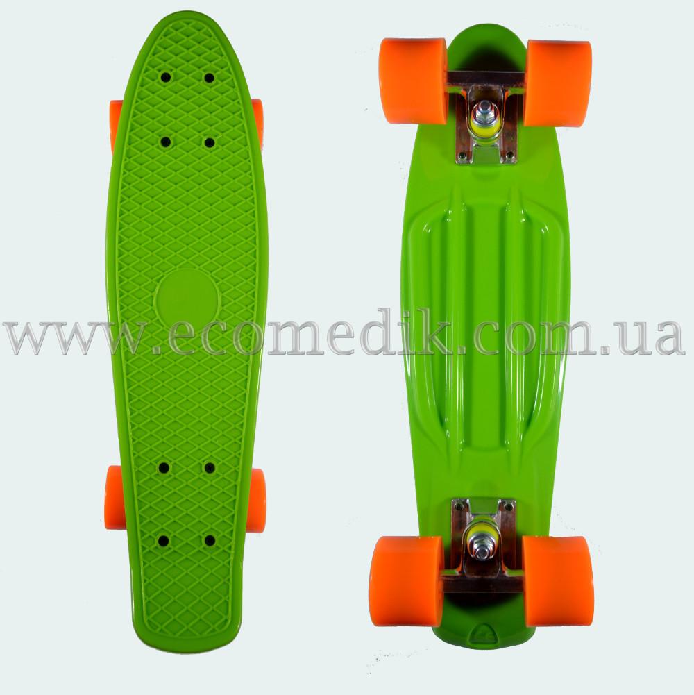 "Стильний скейтборд пенні борд салатовий penny board original 22"""