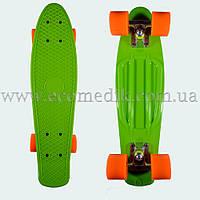 """Стильный скейтборд пенни борд салатовый penny board original 22"""", фото 1"""