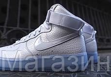 Мужские высокие кроссовки Nike Air Force Найк Аир Форс белые, фото 3